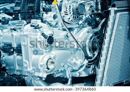 The car engine, engine compartmen, Car Engine background