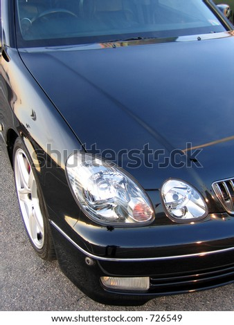 the car head of a Lexus GS - stock photo