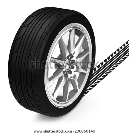 The car tire - stock photo
