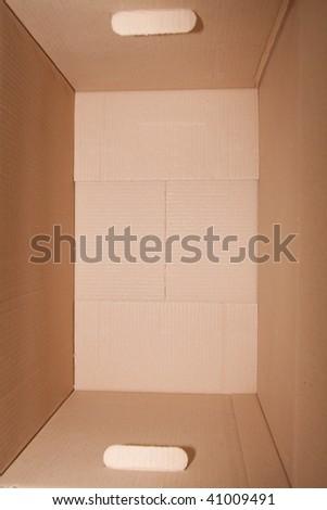 the cardboard box; closeup, isolated - stock photo