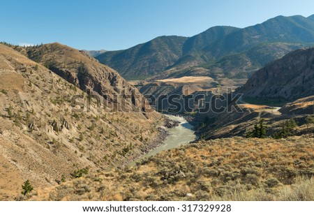 The Cariboo is an intermontane region of British Columbia, Canada. - stock photo