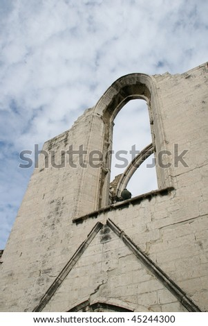 The Carmo convent ruins in Lisbon, Portugal