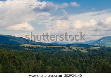 The Carpathian Mountains - stock photo