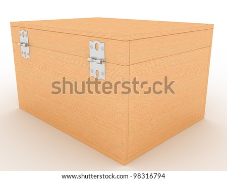 The casket of a tree on a white background ?3 - stock photo