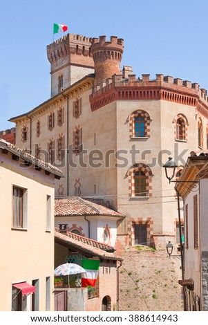 The Castle Falletti of Barolo town, Piedmont, Italy