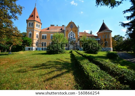 The castle from Zau de Campie, Romania was build on the principles of