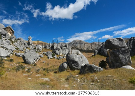 The Castle hill, Southern Alps, Arthur's Pass, New Zealand