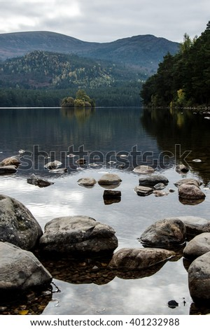 The castle in the lake - stock photo