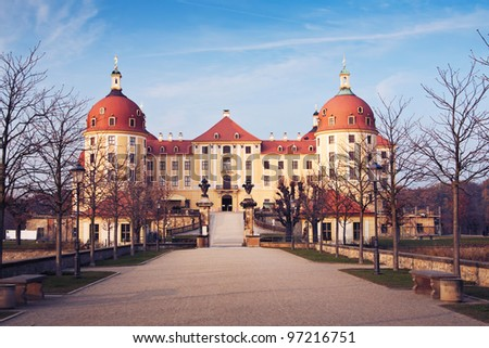 the Castle Moritzburg near Dresden and Meissen - Saxony - Germany