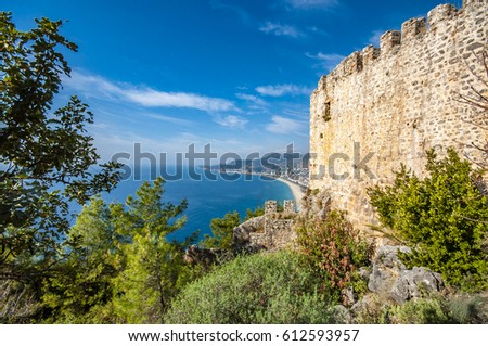 The Castle of Alanya Town in Turkey