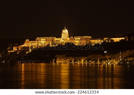The Castle of Buda in Hungary - stock photo