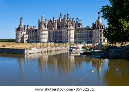 The Castle of Chambord in the Loire Valley