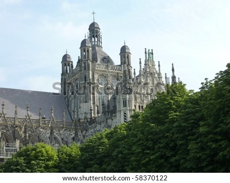 the cathedral church of St John in s-Hertogenbosch in the Netherlands - stock photo