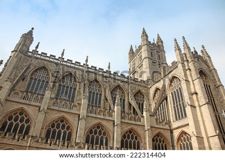 The cathedral in Bath, England