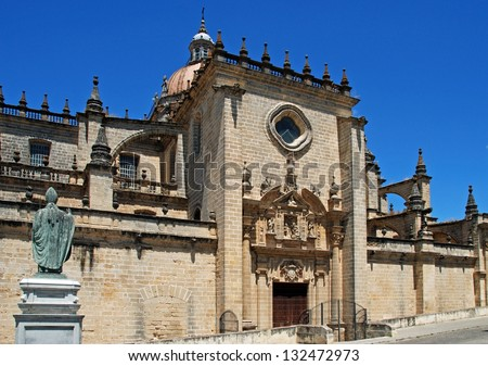 The Cathedral, Jerez de la Frontera, Cadiz Province, Andalusia, Spain, Western Europe.