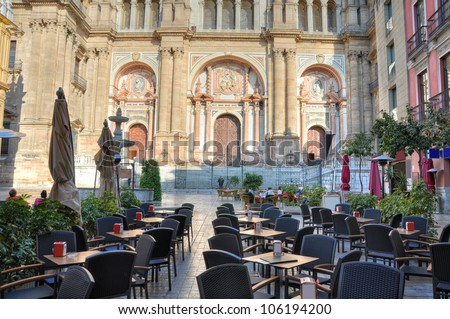 The Cathedral of M�¡laga is a church in M�¡laga, Andalusia, southern Spain build in Renaissance style. - stock photo
