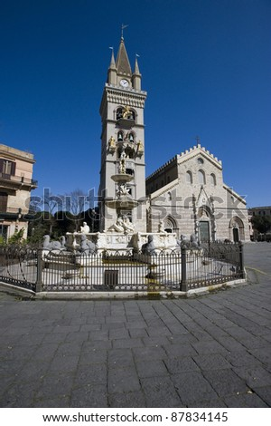 the cathedral of Messina - stock photo