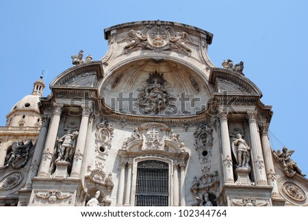 The Cathedral of Murcia in Spain ( Europe )