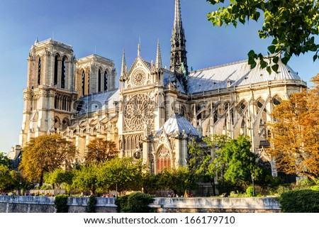 The Cathedral of Notre Dame de Paris, France - stock photo
