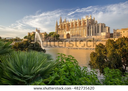 The Cathedral of Santa Maria of Palma de Mallorca, La Seu, Spain