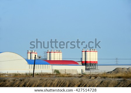 The cement concrete mixing equipment  - stock photo
