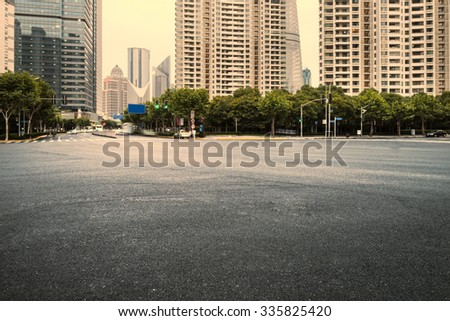 The century avenue of street scene in shanghai Lujiazui,China - stock photo