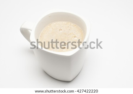 the cereal drink over white background.