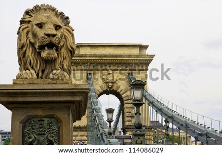 The Chain Bridge in Budapest,  Sightseeing in Hungary.