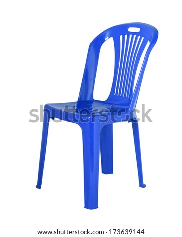 The chair is made of  plastic - stock photo