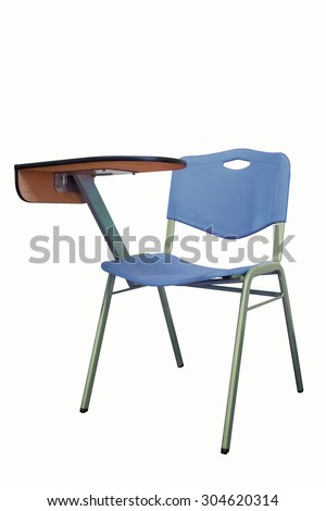 The Chair Lecture blue isolated on white background - stock photo