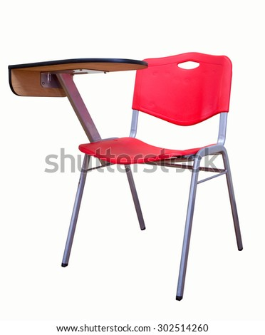 The Chair Lecture red isolated on white background - stock photo