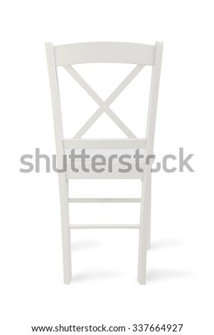 The chair on the white background