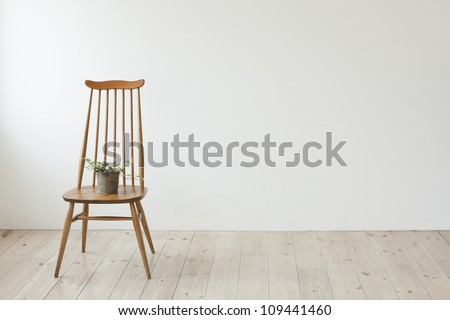 The chair which is put in the room - stock photo