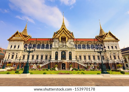 The chakri maha prasat throne hall, Bangkok, Thailand - stock photo