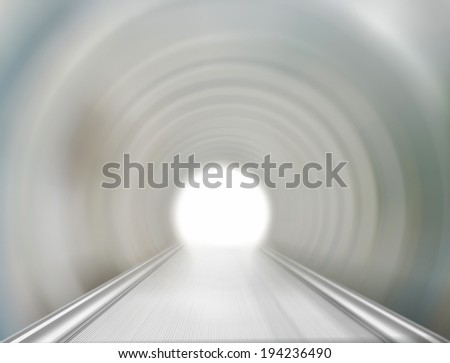 The channel to the light  - stock photo
