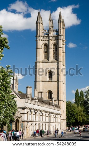 The chapel tower of Magdalen College, Oxford