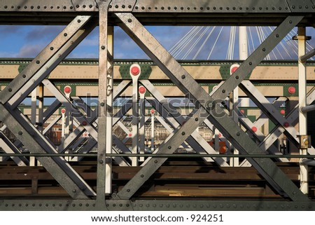 The Charring cross railway bridge girders