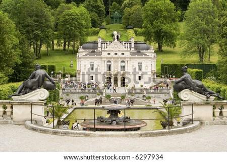 the chateau Linderhof - Germany - stock photo