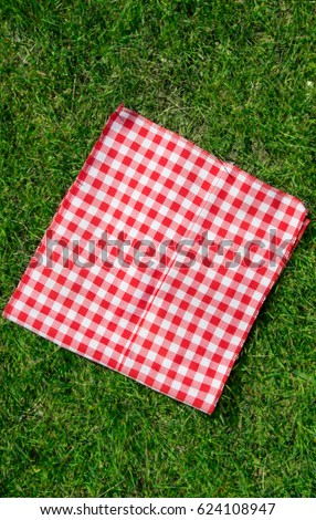 The Checkered Tablecloth On The Grass
