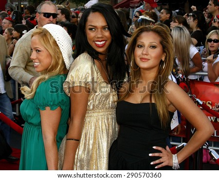 "The Cheetah Girls attend the World Premiere of ""Pirates of the Caribbean: At World's End"" held at Disneyland in Anaheim, California on May 19, 2007."