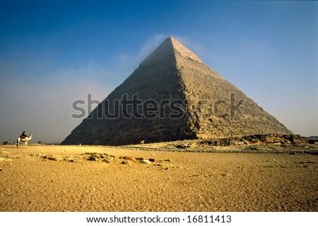 The Chefren Pyramid, Giza, Egypt. - stock photo