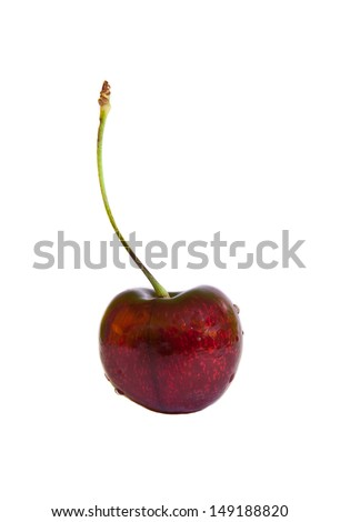 The cherry isolated on the white background