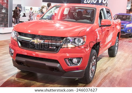 The 2016 Chevrolet Colorado at The North American International Auto Show January 13, 2015 in Detroit, Michigan.