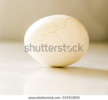 The chicken egg. Crack. - stock photo