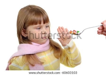 The child doesn't want to accept a pills