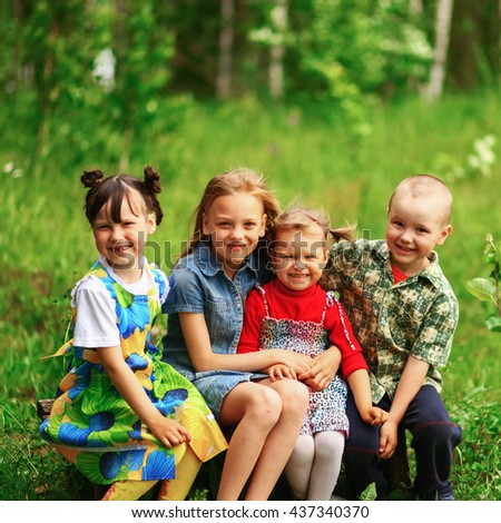The Children lead an active a lifestyle. - stock photo