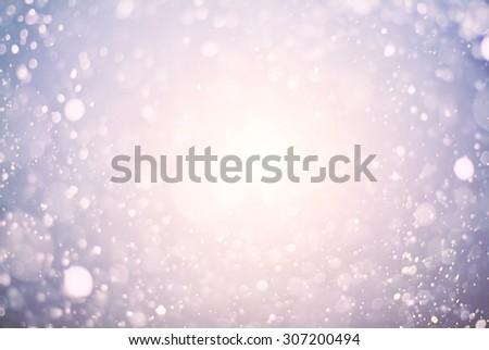 the christmas snowfall and sunlight - stock photo