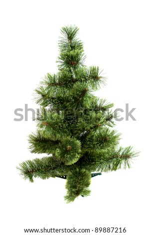 The Christmas tree ready to decorate isolated on white background