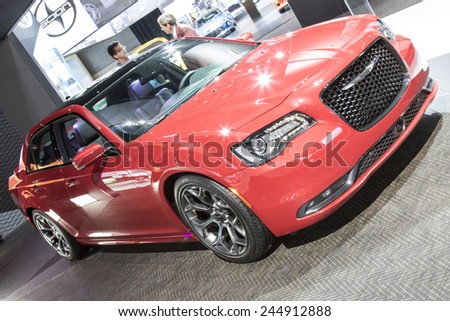 The 2015 Chrysler 300 at The North American International Auto Show January 13, 2015 in Detroit, Michigan. - stock photo