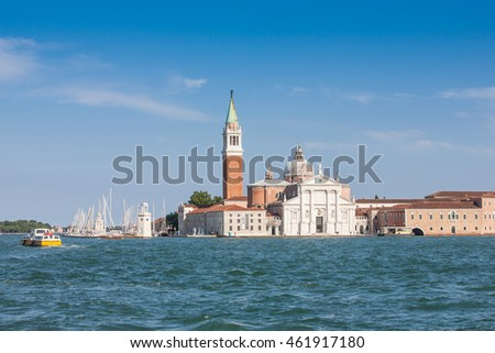 The church and monastery at San Giorgio Maggiore, Venice, Italy.
